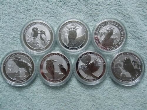 2013 to 2018 AUSTRALIAN SILVER KOOKABURRA 1 OZ (Set of 6 coins)