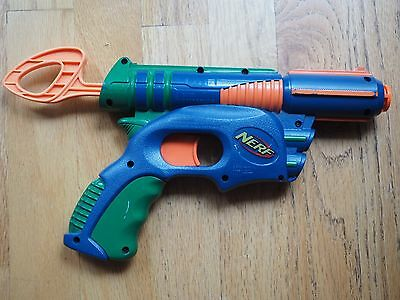 Nerf Tech Target Eliminator Single Shot Soft Dart Gun   Blue Green Orange 2003