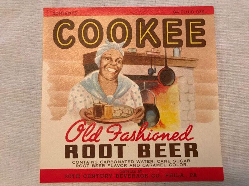 COOKIE Root Beer Vintage Bottle Label, 20th Century Beverage Co, Phila., Pa.