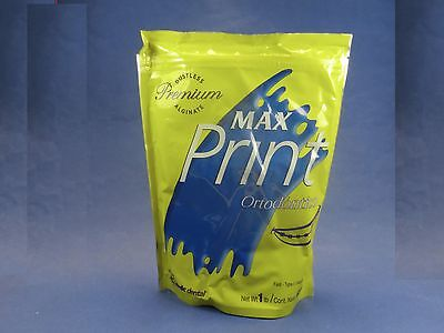 Dental Alginate Max Print Orthodontic Premium Dustless 1 Lb Fast Set Type I