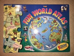 Fun World Atlas Book with Puzzles