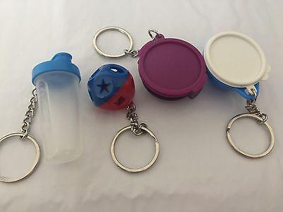 Tupperware Keychains / Keyrings Set Of 4 NEW