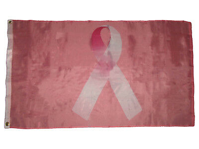 Breast Cancer Awareness Pink Ribbon Banner Flag Super Poly 3x5 Flag Brain Cancer - Breast Cancer Awareness Banner