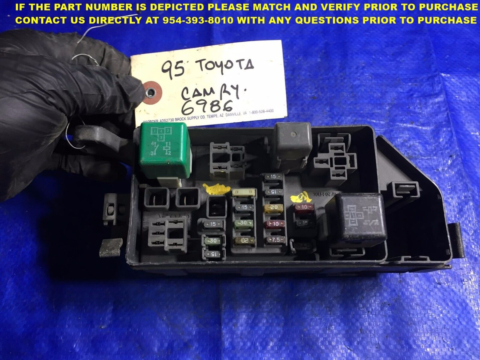 Used 1995 Toyota Camry Dash Parts For Sale Fuse Box Cover