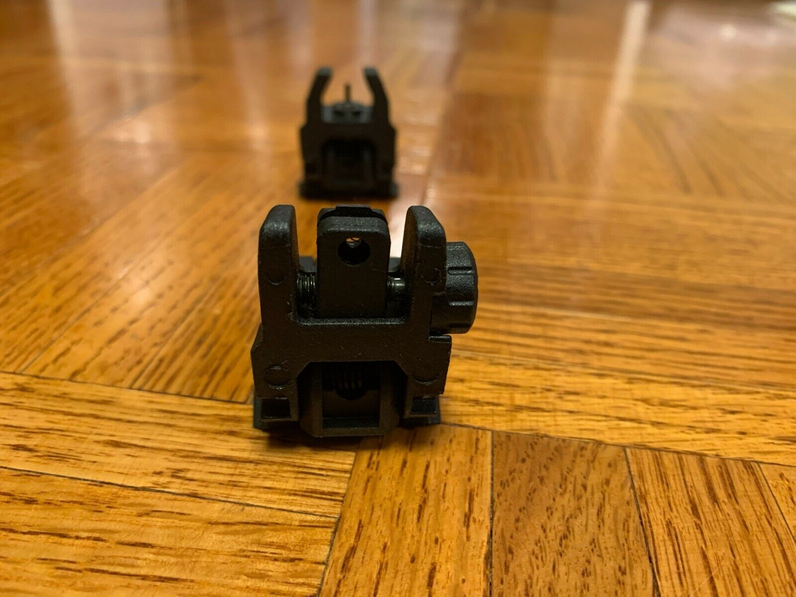 Low Profile Flip-up Folding Iron Sights For Weaver Rail Mount - Rifle Or Pistol - $20.00