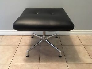 Herman Miller leather and aluminum bench/stool