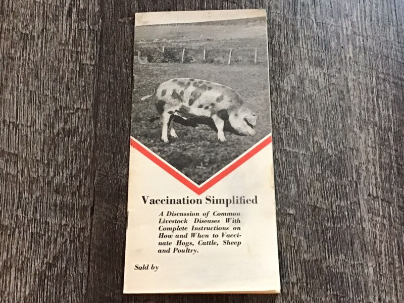 1930s Anchor Serum Veterinary Vaccine Medicine Brochure Catalog