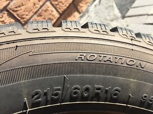 4 Sailun winter tires , 215/60/16.. used