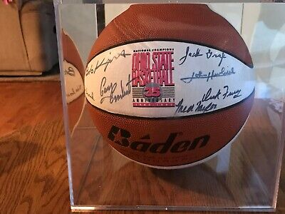 OHIO STATE SIGNED BASKETBALL 1960 NATIONAL CHAMPIONSHIP TEAM 16 SIGNATURES