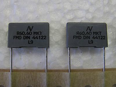 50 Pcs Arcotronics .33uf 0.33uf 100v 10 Mkt Polyester Capacitors
