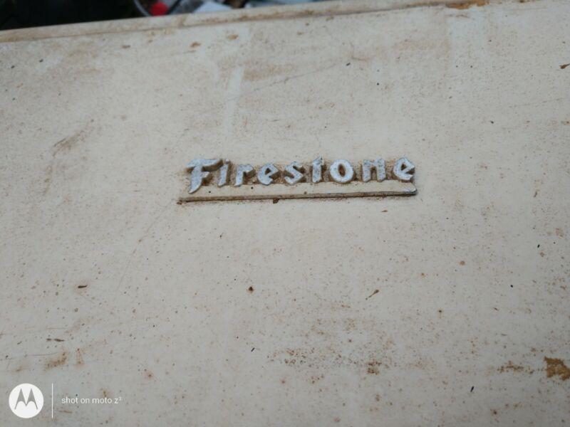 "VTG Firestone metal Display tool cabinet shelf Rack Shop Garage 37"" x 17"" x 12"""