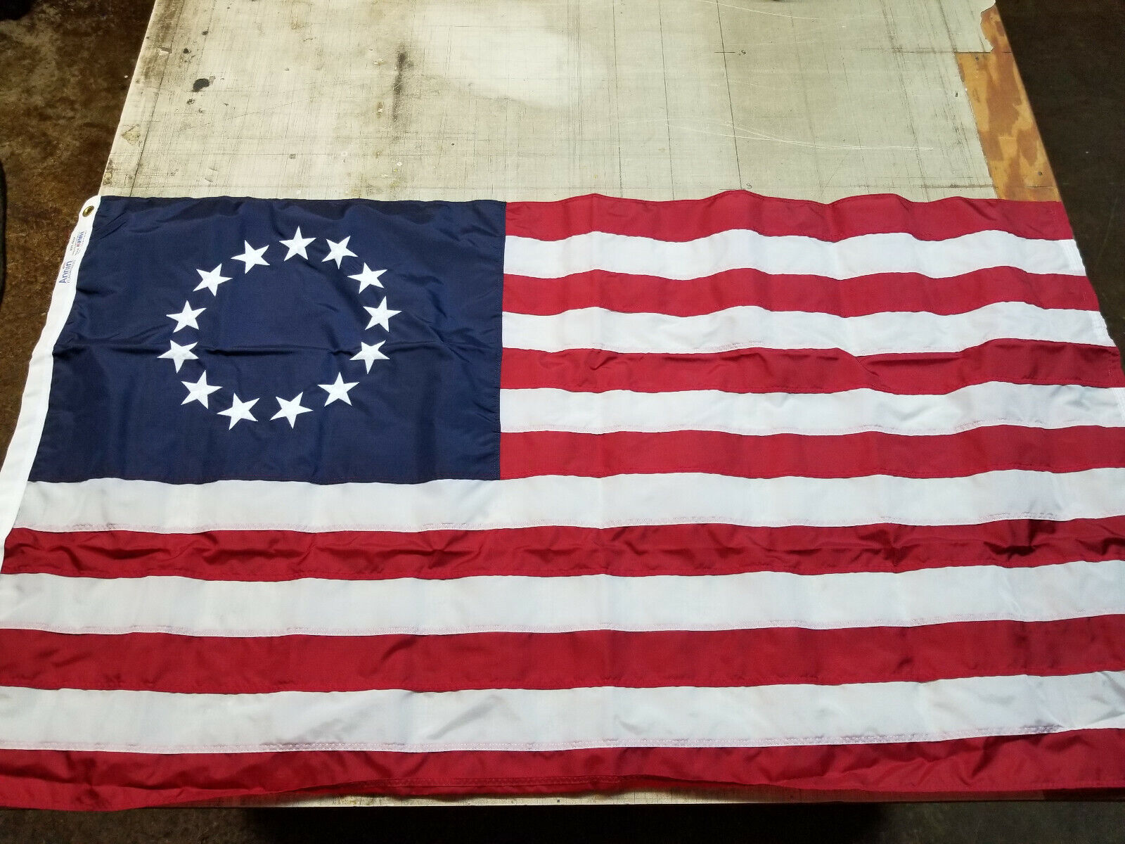 3x5 embroidered betsy ross usa 200d sewn
