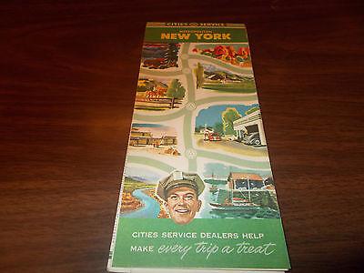 1945 Cities Service Metropolitan New York Vintage Road Map