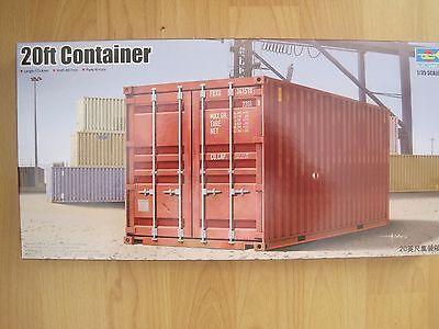 Container 20 Fuss 20ft 1:35 ideal f Diorama Eisenbahn Ladegut NEU Plastikbausatz