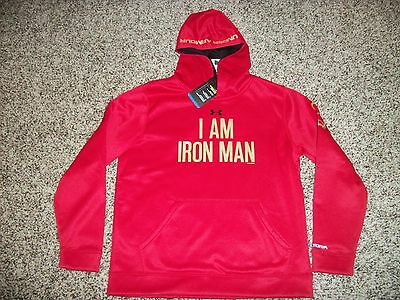 IRON MAN UNDER ARMOUR New NWT Youth Kids Boys LARGE Hoodie Jacket Alter Ego