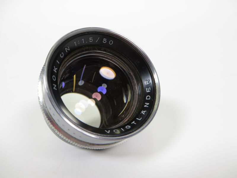 Vintage Voiglander Nokton 50mm f/1.5 Prominent Mount Lens Germany