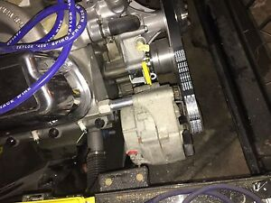 Fox mustang alternator and polished alternator