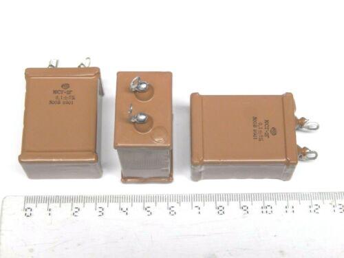 RARE!!! 0.1uF 5% 500V Silver Mica Capacitors KSG-2 . Lot  4 NOS.