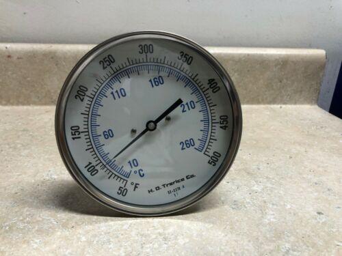 "Trerice B8520908 50/500F 9"" stem 1/2"" NPT Thermometer"