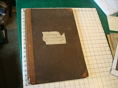1870's  GLOBE Insurance co of Boston Mass LEDGER, 95+& BLANK