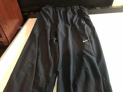 NIKE Mens Basketball Running Active Workout Pants Dark Blue Small S (M10)