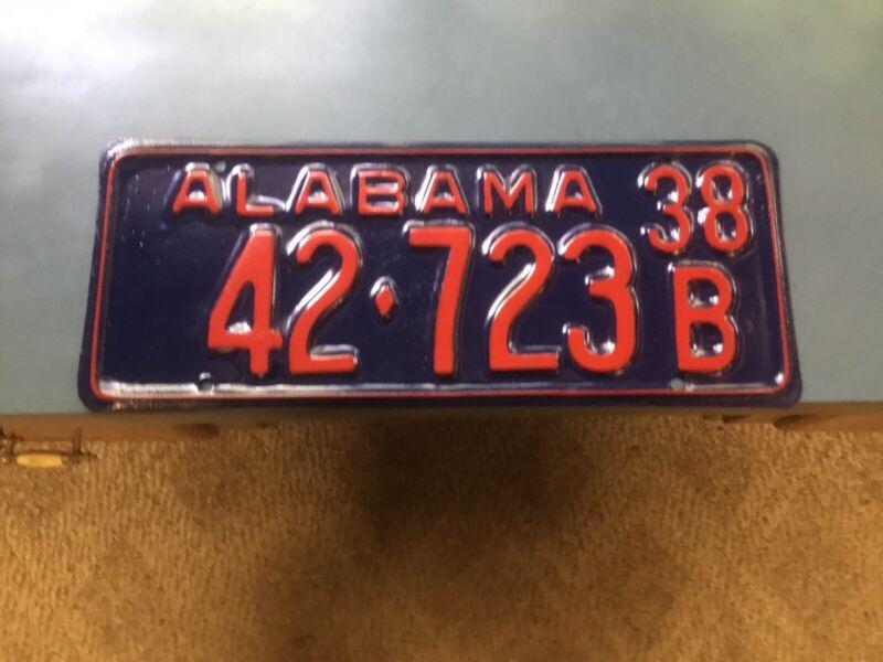 Alabama Car Tags 1938