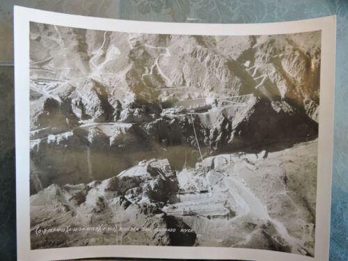 Orig 1934 7.5x9.5 Aerial Photo Construction BOULDER DAM Colorado River WPA