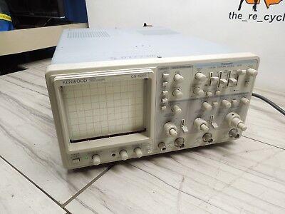 Kenwood Cs-5265 60mhz Oscilloscope Powered On Read