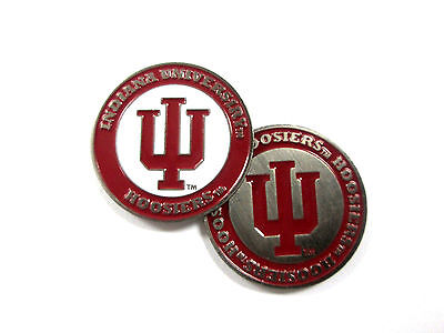 (NCAA Indiana Hoosiers Golf Ball Marker Enamel Metal Team Logo 2 Sided Hat)