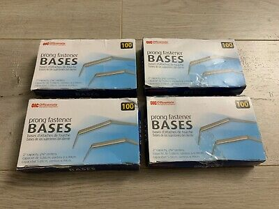 Lot Of 4 Boxes Officemate Prong Paper Fastener Bases Only 400 Prongs Total