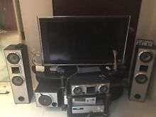 """Sony LCD 46"""" TV with stereo and glass stand Cannington Canning Area Preview"""