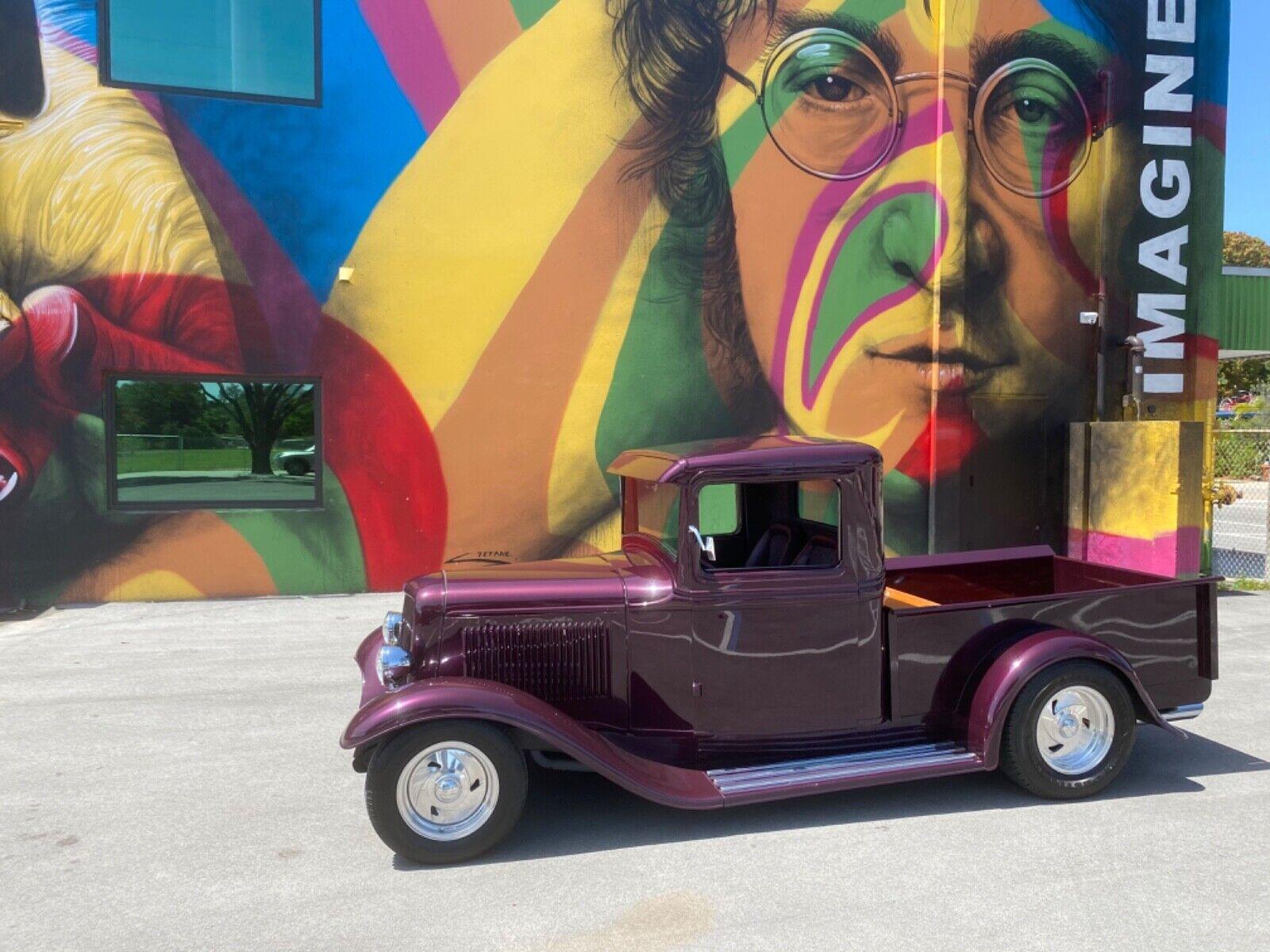 1934 FORD PICK UP ALL STEEL V8 350 A/C HOT ROD SUPER CLEAN RESTORED 954 937 8271