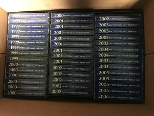 1 SET BETWEEN 1999-2006 PROOF SET IN ORIGINAL IN BOX WITH COA (1 each)