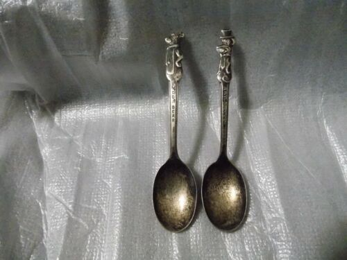 Yogi Bear and Huckleberry Hound 6 in. spoons vintage silver plated