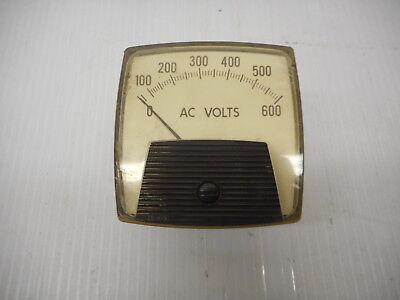 Vintage Greenlee Ac Voltmeter 0-600v Square