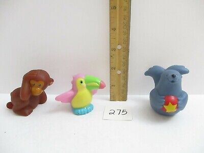 Fisher Price Little People Lot - Monkey, Toucan, and Seal Zoo Animals