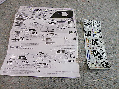 Detail and Scale  decals 1/48 33rd Tactical Fighter Wing F-15A F-15B Eagles P2 for sale  Belmar