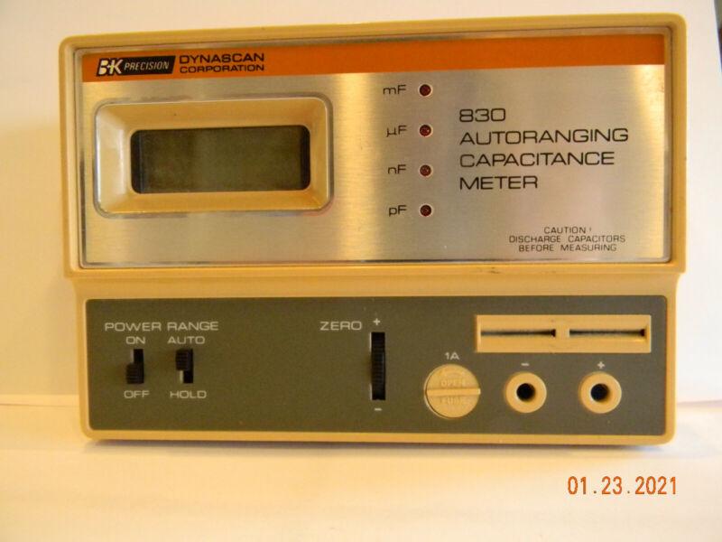 Vintage B&K precision 830 capacitance meter. Auto-Ranging. Accurate. Electronics