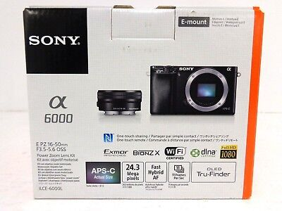 Sony Alpha a6000 Mirrorless Digital Camera ILCE-6000L/B with 16-50mm Lens Black