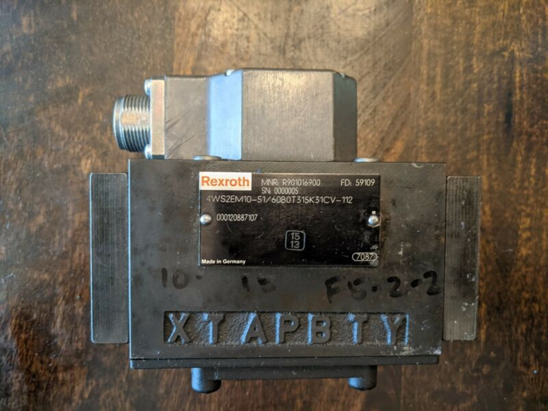 Bosch Rexroth 4WS2EM10-51/60B0T315K31CV-112 Servo Valve R901016900