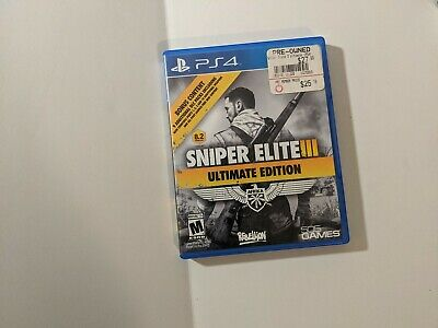 PLAYSTATION 4 PS4 GAME SNIPER ELITE III ULTIMATE EDITION  segunda mano  Embacar hacia Mexico