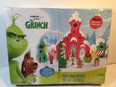 Dr. Seuss The Grinch Who-Ville Holiday Advent Calendar New...BOX HAS DAMAGE
