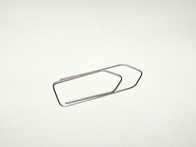 Nitinol Niti Büroklammer paperclip Formgedächtnismetall shape memory Titan Ni