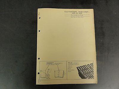 John Deere 4200 And 4220 Cultivators Row-crop Parts Catalog Pc-289