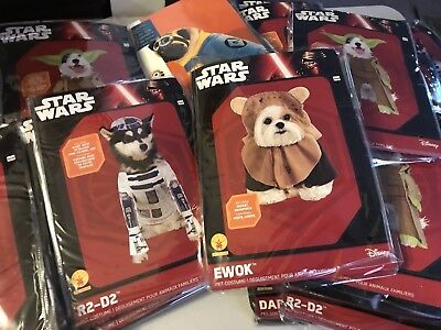 Star wars, Ewok,Yoda,Darth Vader,RD-D2,Minion, Dog Costumes New  (Ewok Dog Costume)