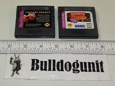 Caesars Palace & Sports Trivia Sega Game Gear Game Cartridge Lot
