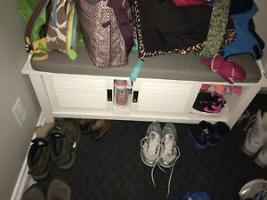 Moving Sale: shoe rack bench for sale