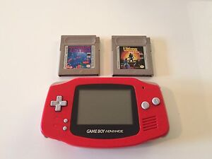 Gameboy Advance Red (Tetris, Ultimate Runes of virtue )