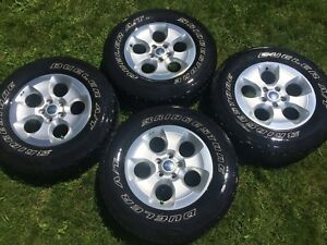 Jeep Wrangler wheels and tires.
