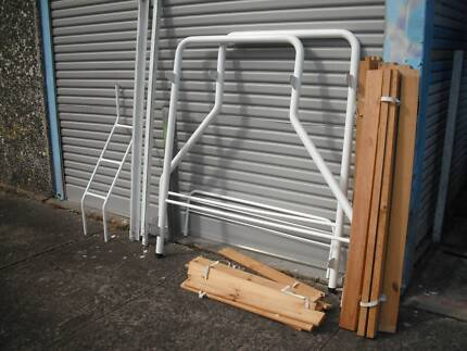 CLEAN*DOUBLE + SINGLE TRIO BUNK*STRONG TIMBER SLATS*METAL FRAME Cartwright Liverpool Area Preview